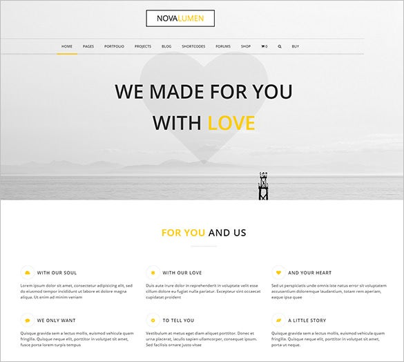 attractive modern and creative wordpress theme