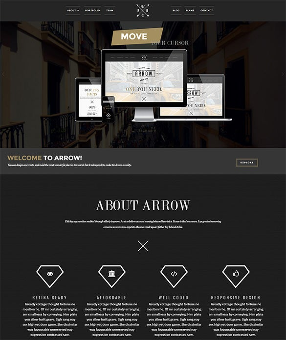 striking modern and creative wordpress theme