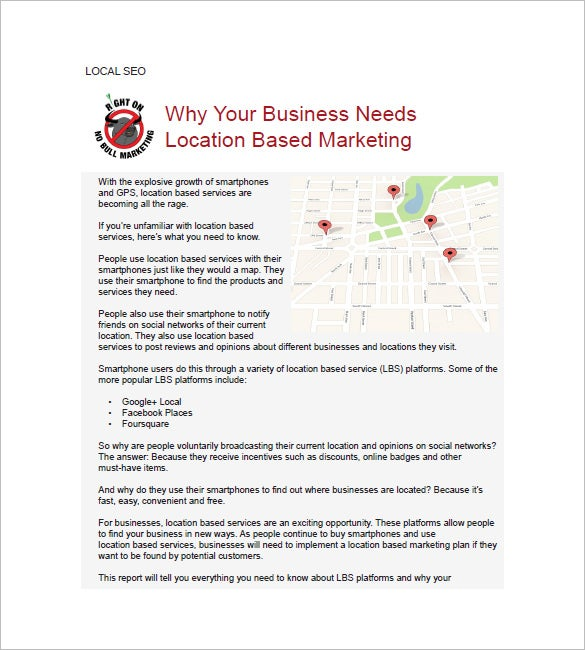 local seo marketing plan