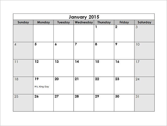 Monthly Schedule Template - 3 Free Excel, Pdf Documents Download