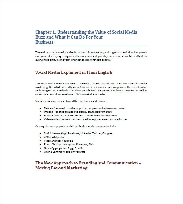 social media marketing plan example