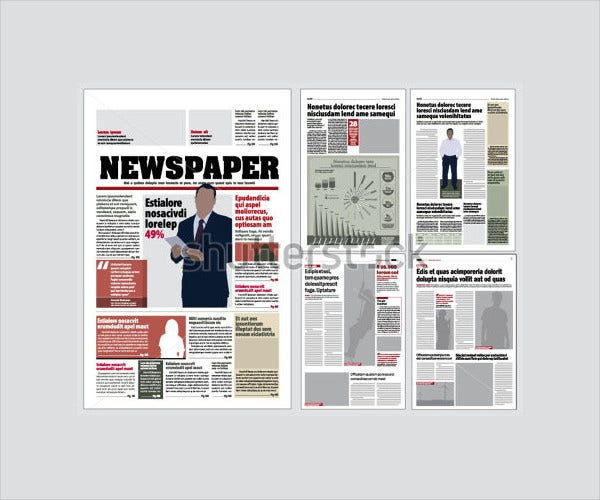 newspaper layout template1