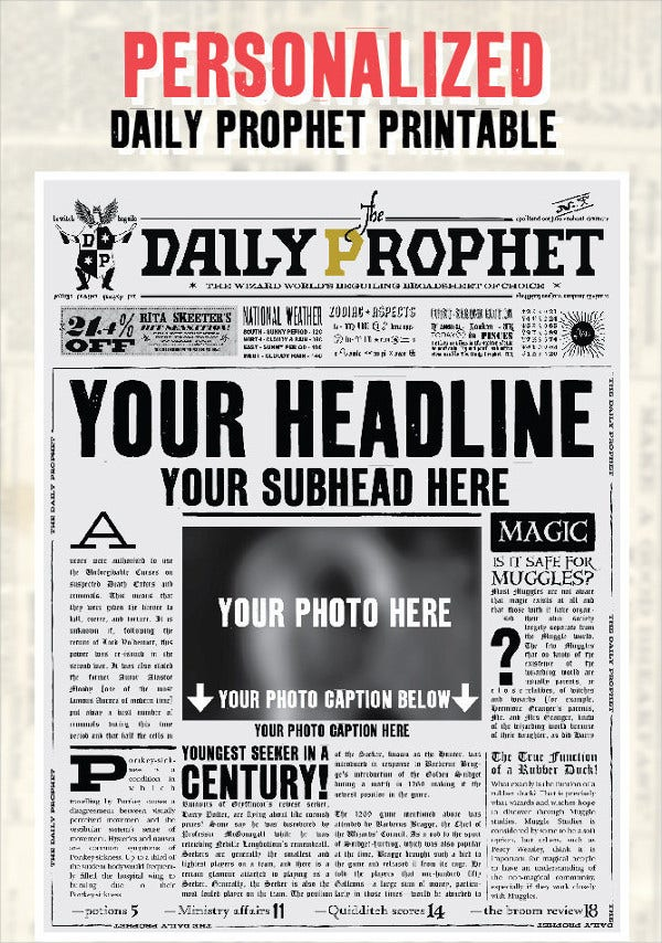 Newspaper Template 16 Free Word PDF Documents Download – Newspaper Headline Template