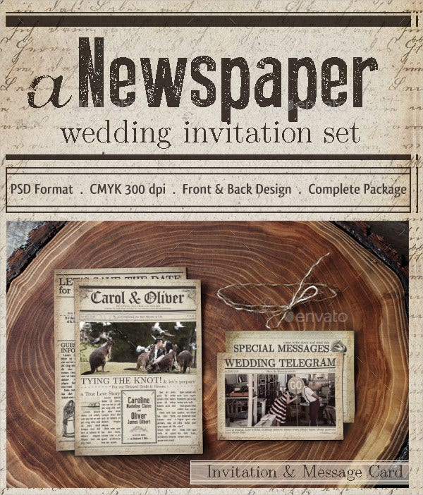 wedding newspaper template1