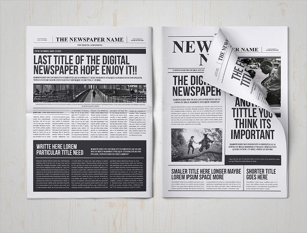 Classic Newspaper Indesign Template