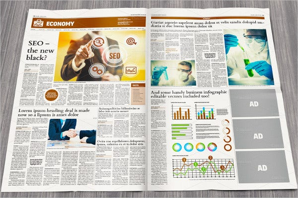 Newspaper Template   Free Word Pdf Documents Download  Free