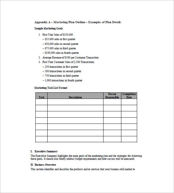 Simple Marketing Plan Template 10 Free Word Excel PDF Format – Simple Sales Plan Template