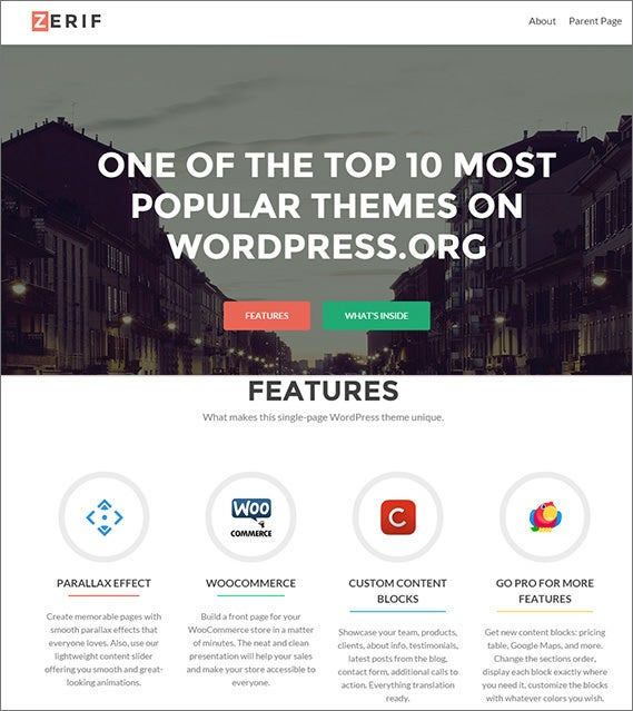 simple free wordpress theme