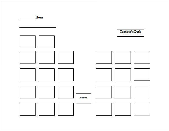 Classroom Layout Template Word ~ Seating chart templates doc pdf free premium