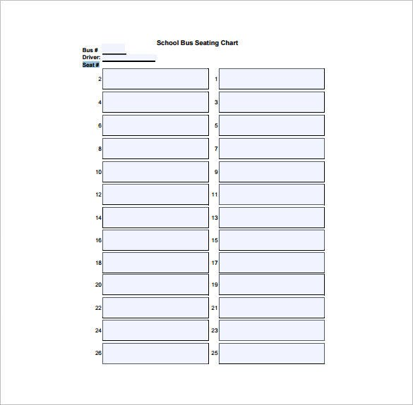 Seating Chart Template 10 Free Word Excel PDF Format Download – Printable Seating Charts