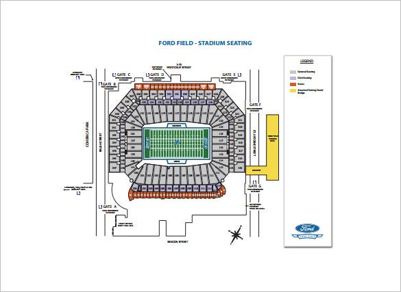 stadium seating chart free pdf template
