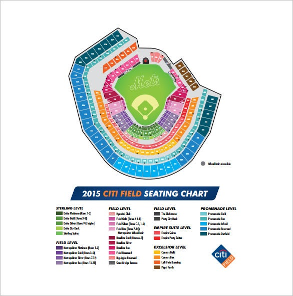 citi field seating chart free pdf download