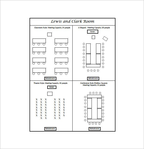 Seating Chart Template 10 Free Word Excel PDF Format Download – Classroom Seating Arrangement Templates