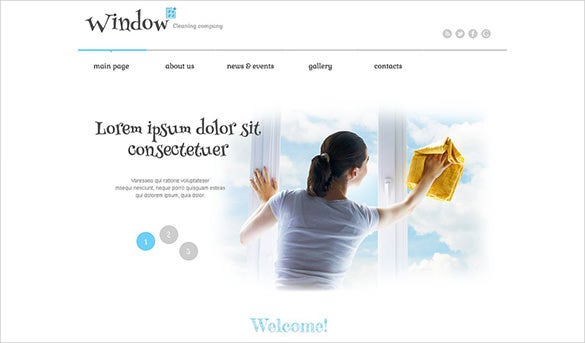 beautiful cleaning company wordpress theme