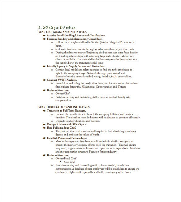 Business Marketing Plan Template   Free Sample Example
