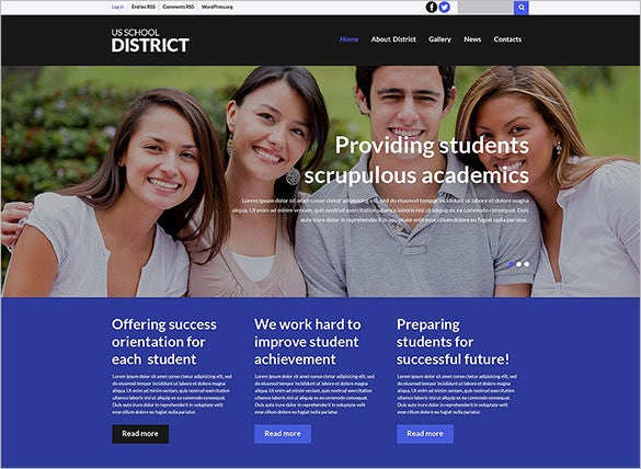 multi purpose high school wordpress theme