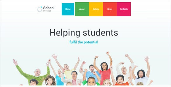 simple high school wordpress theme