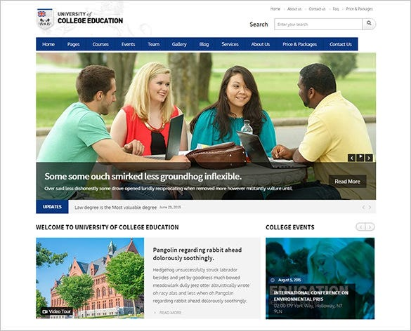 esteem high school wordpress theme