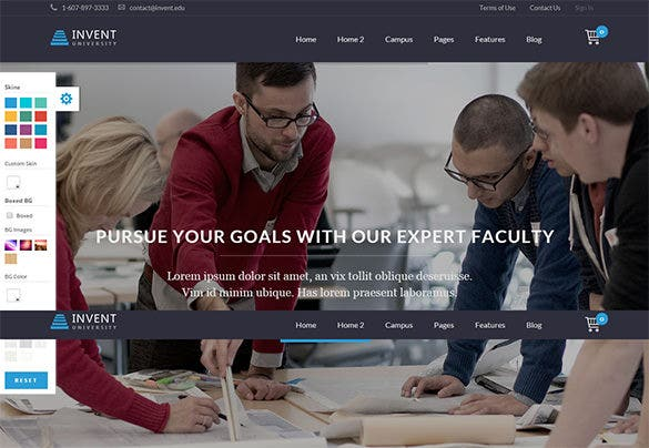striking high school wordpress theme