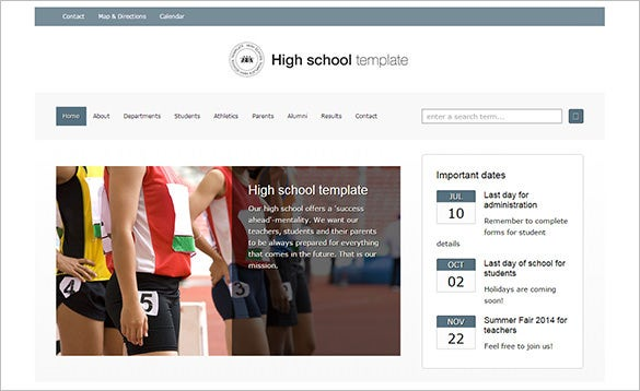 classy high school wordpress theme