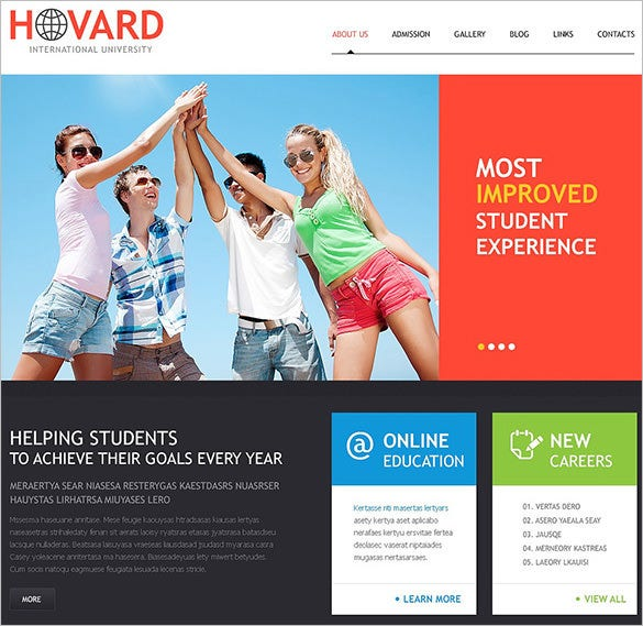 dazzling high school wordpress theme