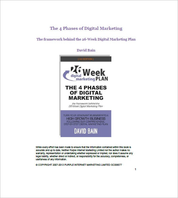 26 week internet marketing plan