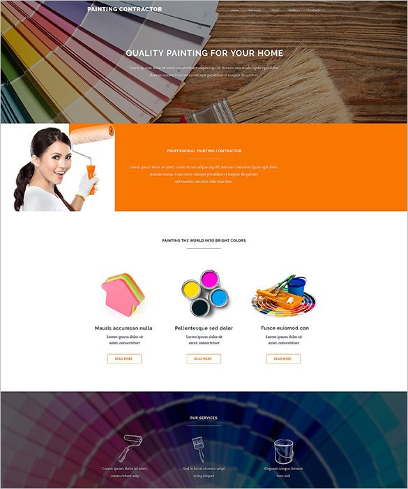 painting contractor website wordpress template