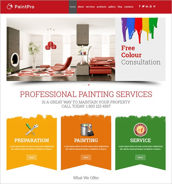 12 painting company wordpress templates themes free premium