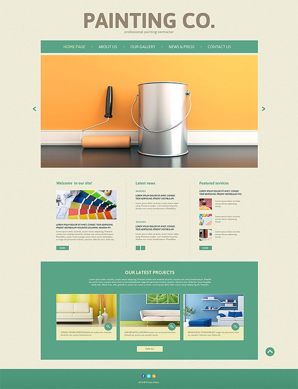 11 painting company wordpress templates themes free premium painting company wordpress template accmission Image collections