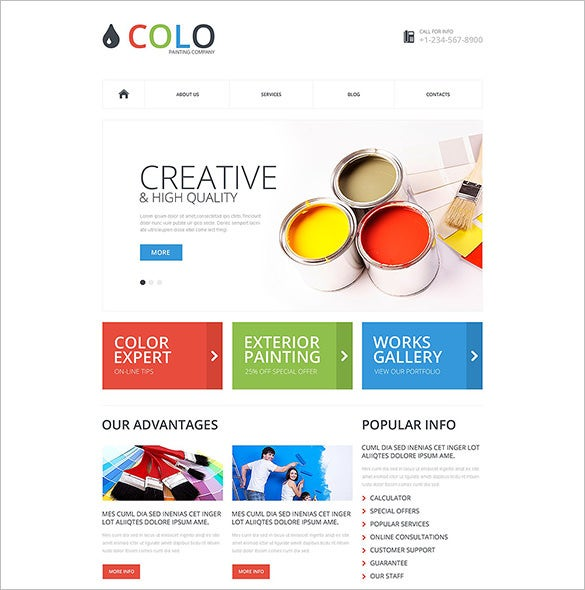 12+ Painting Company WordPress Templates & Themes | Free & Premium ...