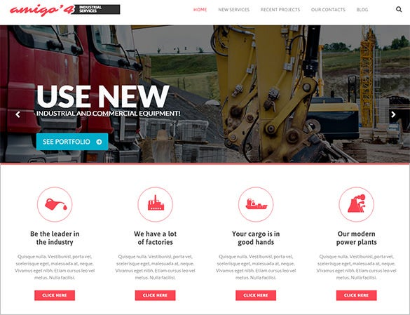 multiform mining company wordpress theme