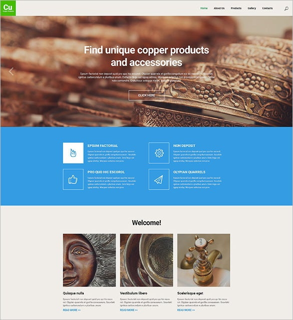 industrial responsive website wordpress template