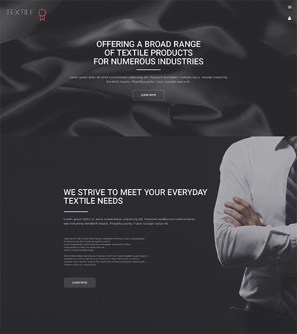 textile industry wordpress theme