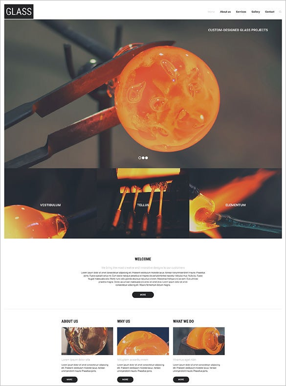 glass industry website wordpress template