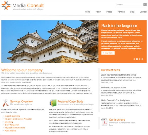 media consult business wordpress theme