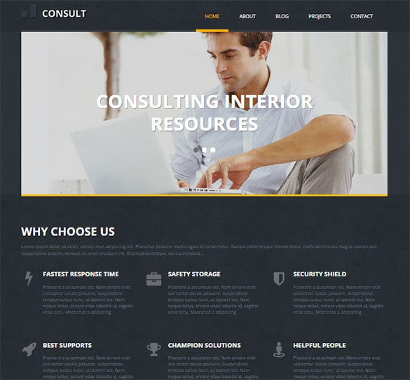 marketing consultant business wordpress theme