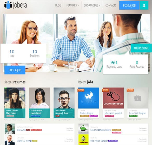jobera job portal wordpress theme