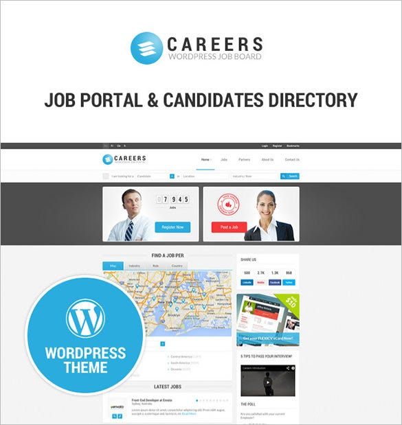 job portal candidates wordpress theme