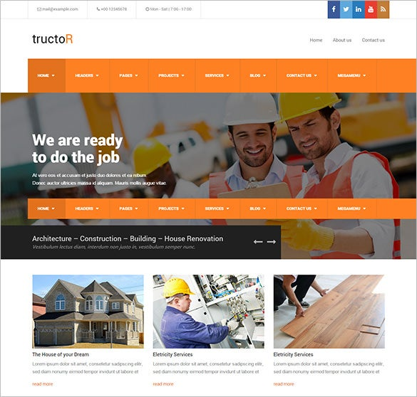 expert roofing comany wordpress theme
