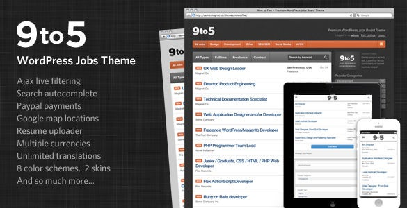 premium wordpress jobs theme