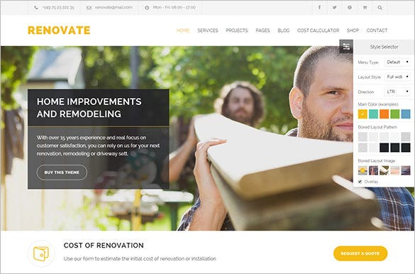 renovate roofing company wordpress theme