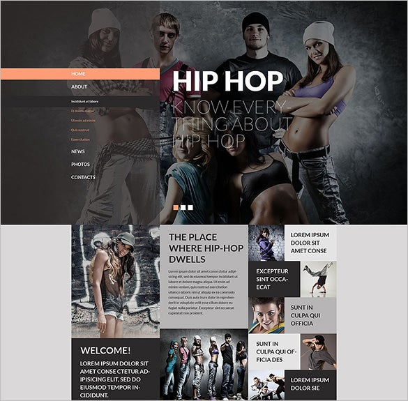 street dance studio website template