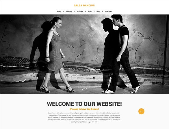 salsa club website template