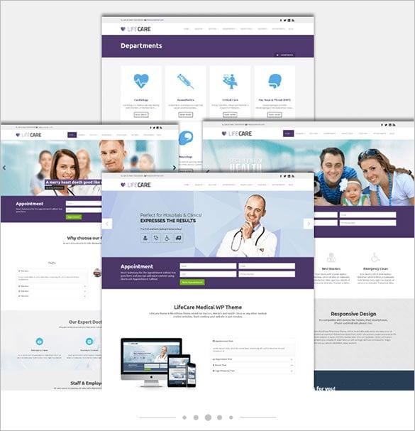 lifecare responsive medical wordpress theme