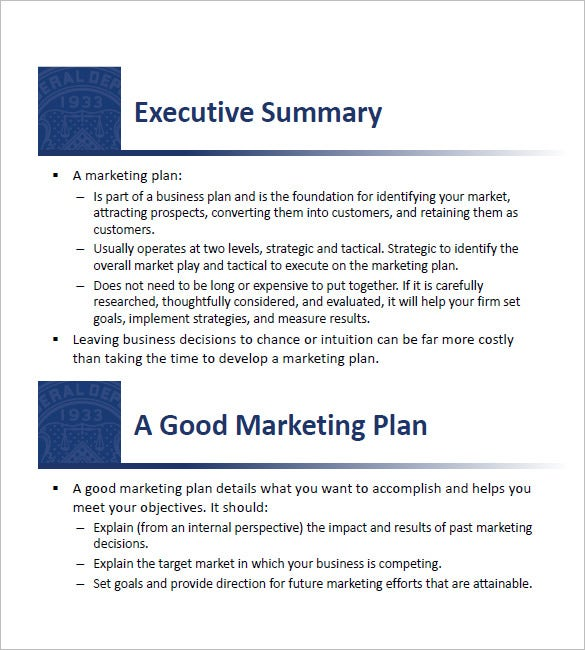 Small Business Marketing Plan Template Free Sample Example - Small business marketing plan template