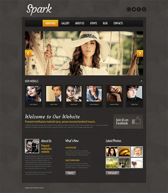 model agency wordpress portfolio theme