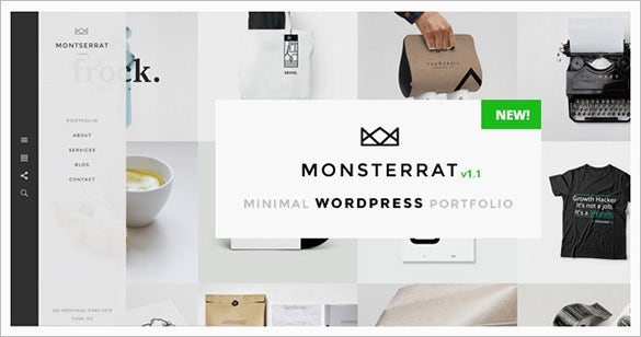monsterrat model wordpress portfolio theme