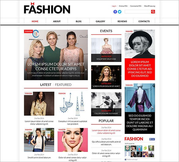 world fashion news portal wordpress theme