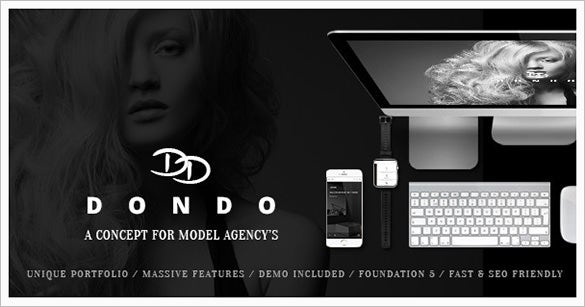 model agency portfolio wordpress theme