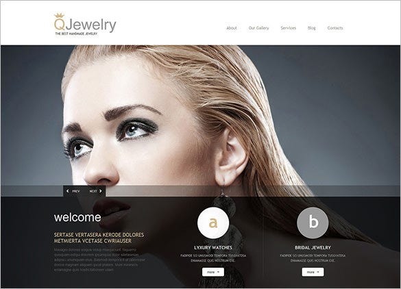 model jewelry responsive wordpress theme